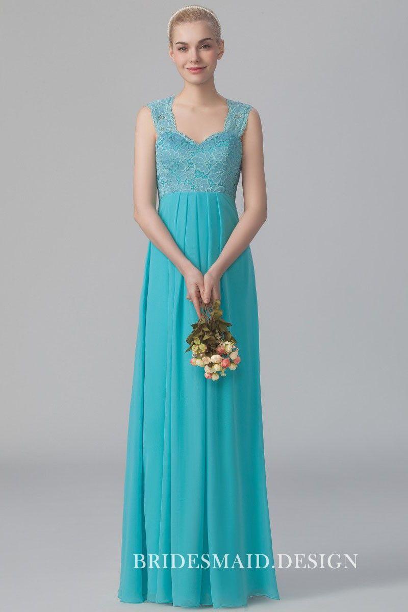 f128b5e05c5 asymmetrical pleated one shoulder pink chiffon bridesmaid long dress. Pool  blue lace and chiffon elegant ...