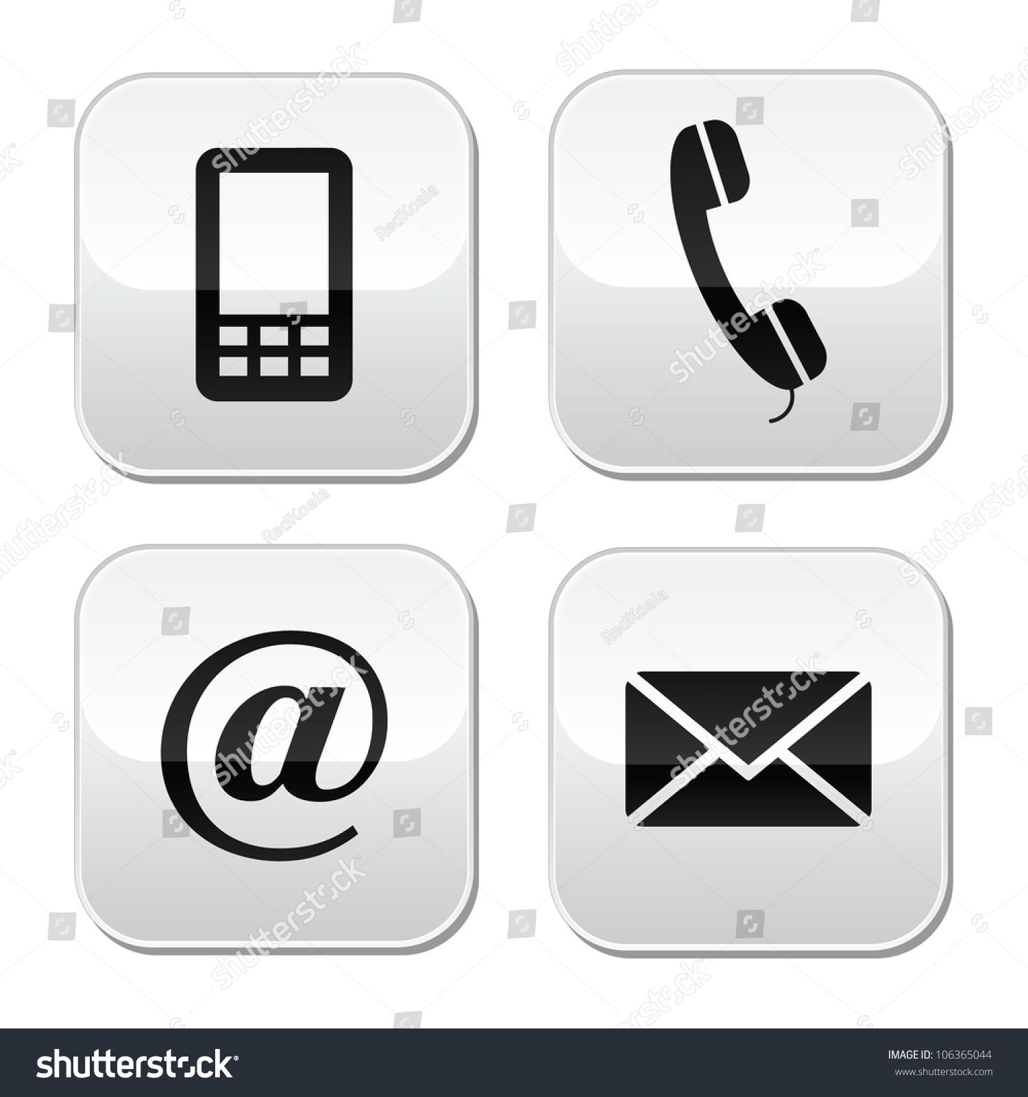 Contact Buttons Set Email Envelope Phone Mobile Icons Ad Affiliate Set Email Contact Buttons Mobile Icon Phone Logo Phone Icon