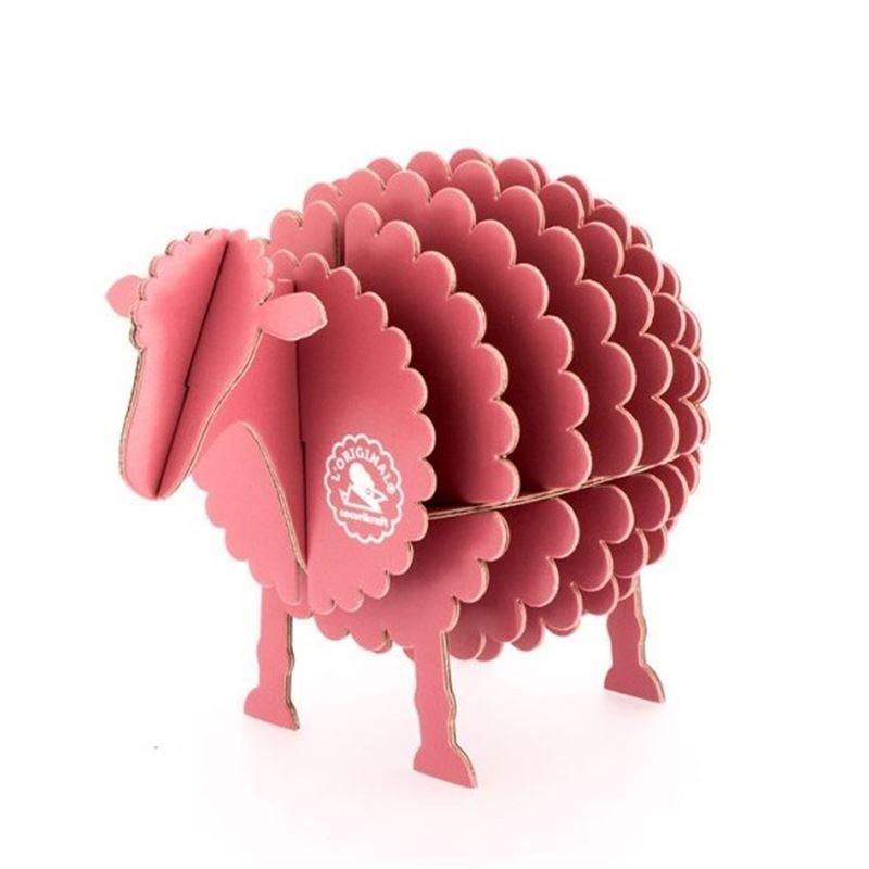 mouton en carton rose taille s cocorikraft animaux en carton l 39 atelier chez soi d coration. Black Bedroom Furniture Sets. Home Design Ideas