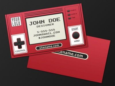 retro gaming business card design free psd geeky things