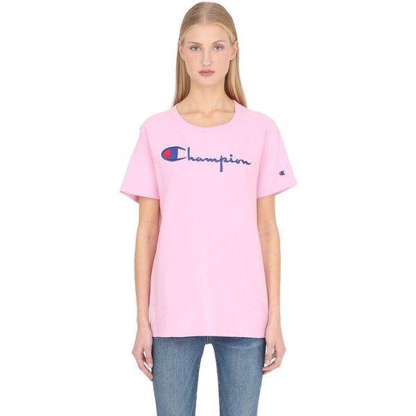 Champion Women Champion Cotton Jersey T-shirt ($52) ❤ liked on ...