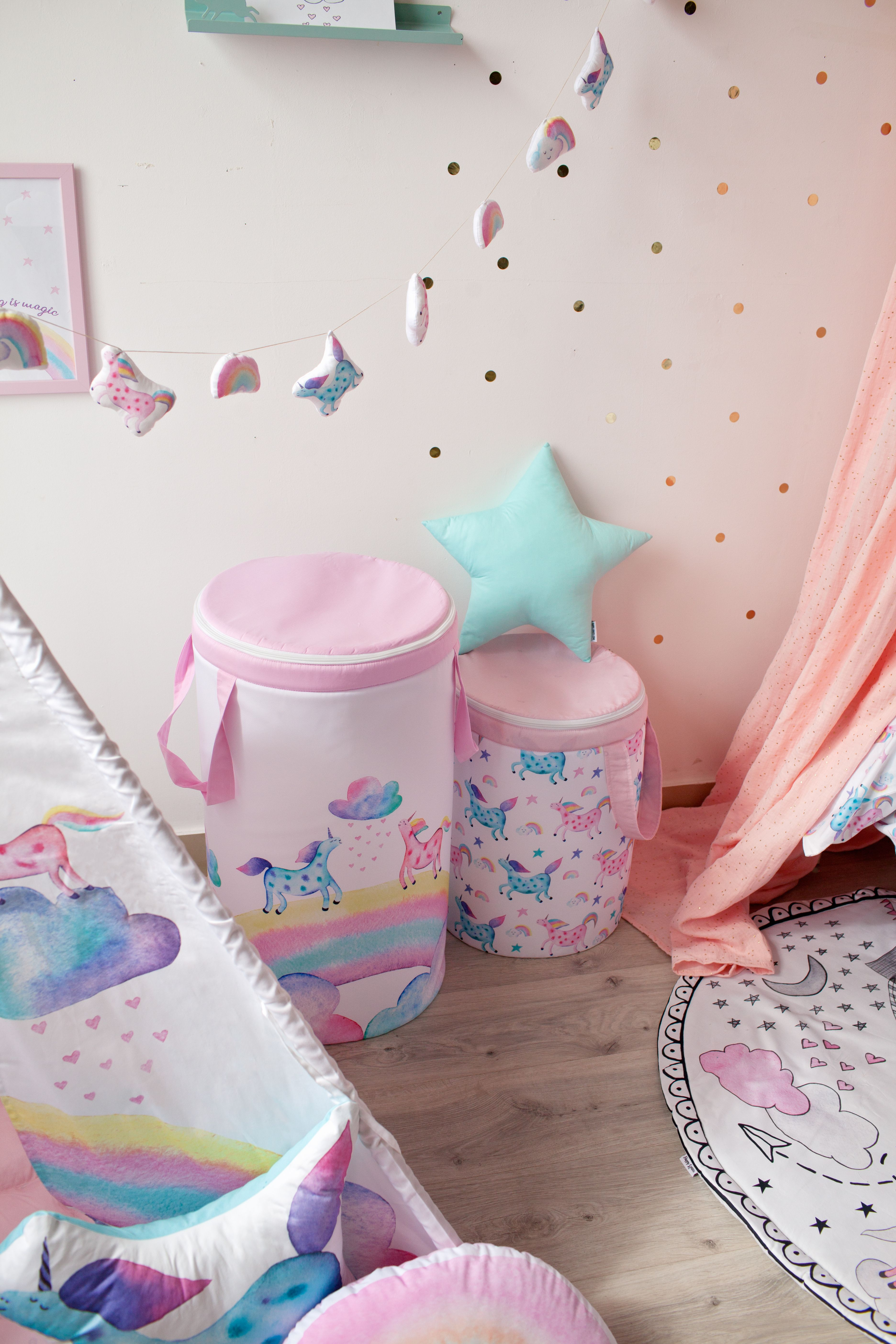 room ideas for girls,toys storage,unicorn room decor,toddler room,pillow,toys basket,to buy on site