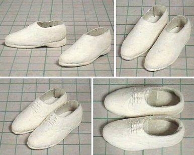 紙と紙ねんどの靴 「パプペポ」着せ替え人形の手作り服の