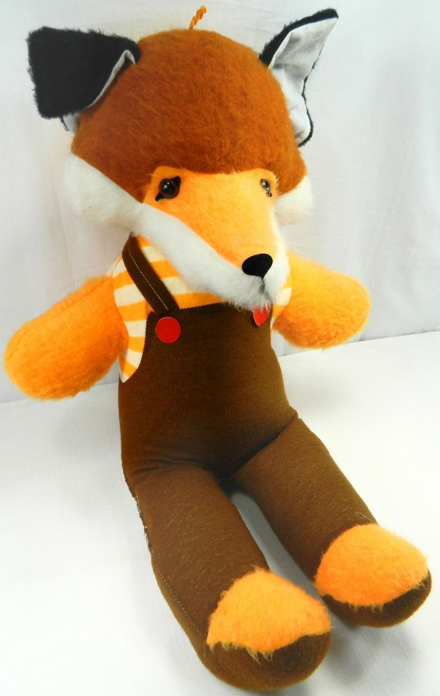 26 Jumbo Fox Plush Stuffed Animal Doll Toy Vintage Carnival Prize