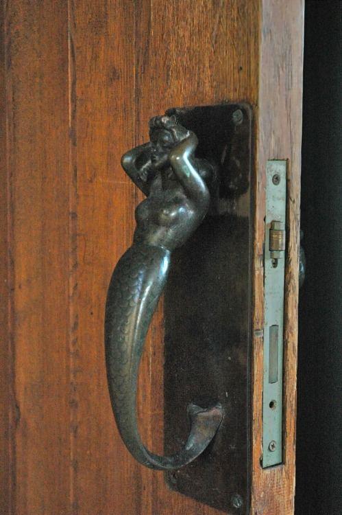 Elegant Mermaid Door Handle Ilana Goor Museum, Jaffa, Israel Posted By Linusdaddy
