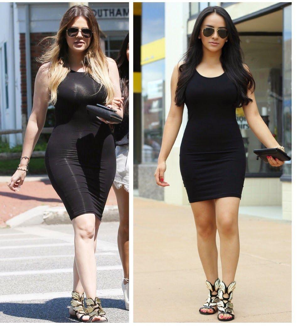 look alike celebrities bodycon dresses