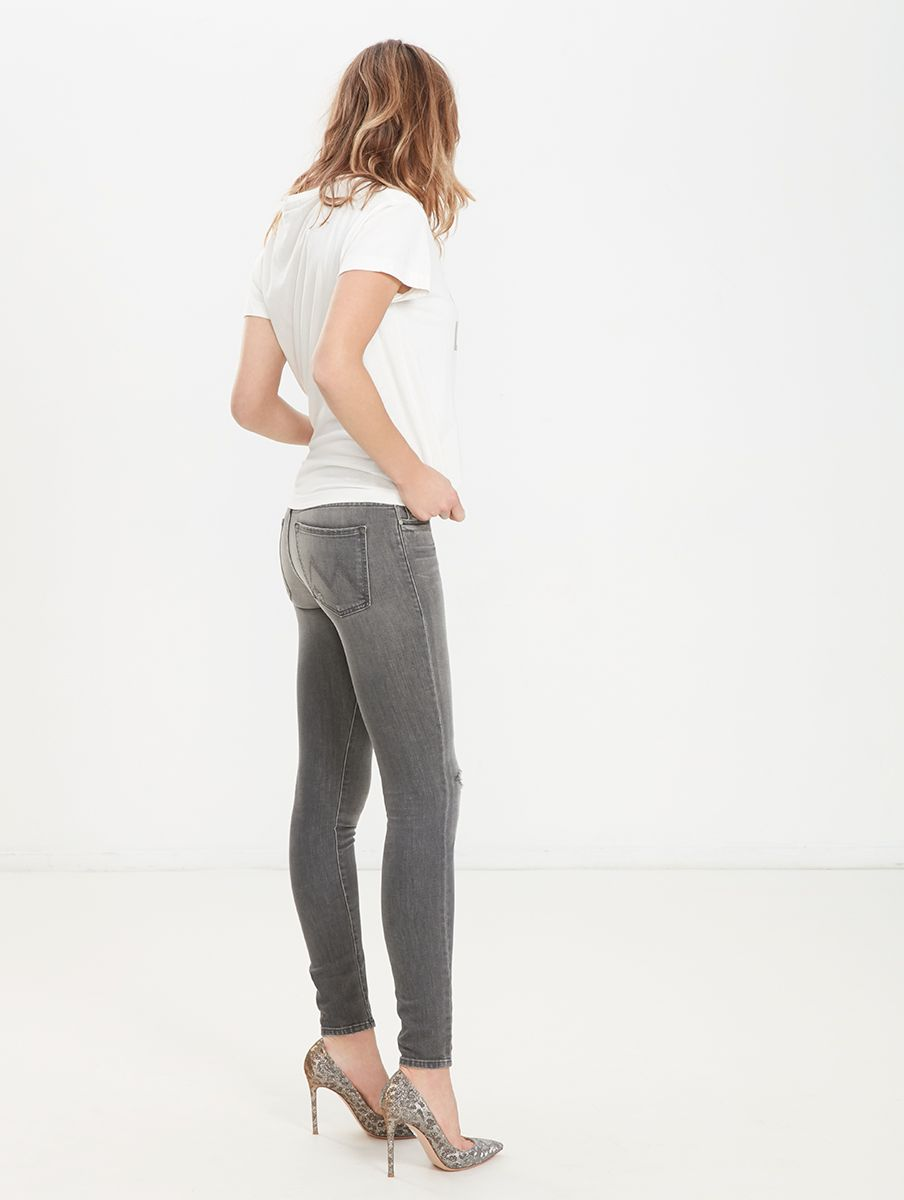 The Looker Cropped High-rise Skinny Jeans - White Mother bvavaBqt