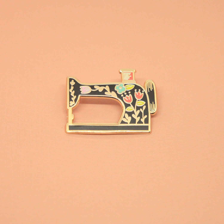 Sewing Machine Enamel Pin | Hard Enamel, Enamel Pin, Lapel