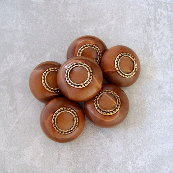 Brown Coat Buttons - CHOOSE 25mm 1 inch, 28mm 1-1/8 inch - Chunky ...