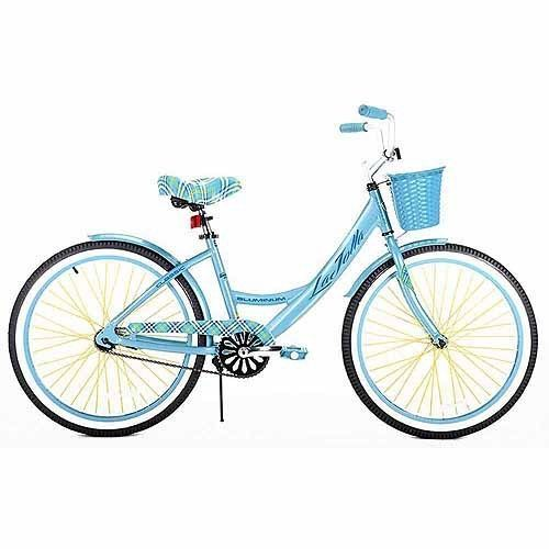 "24/"" GIRLS' CRUISER BIKE BLUE ALUMINUM FRAME Lightweight Bicycle Basket NEW!"