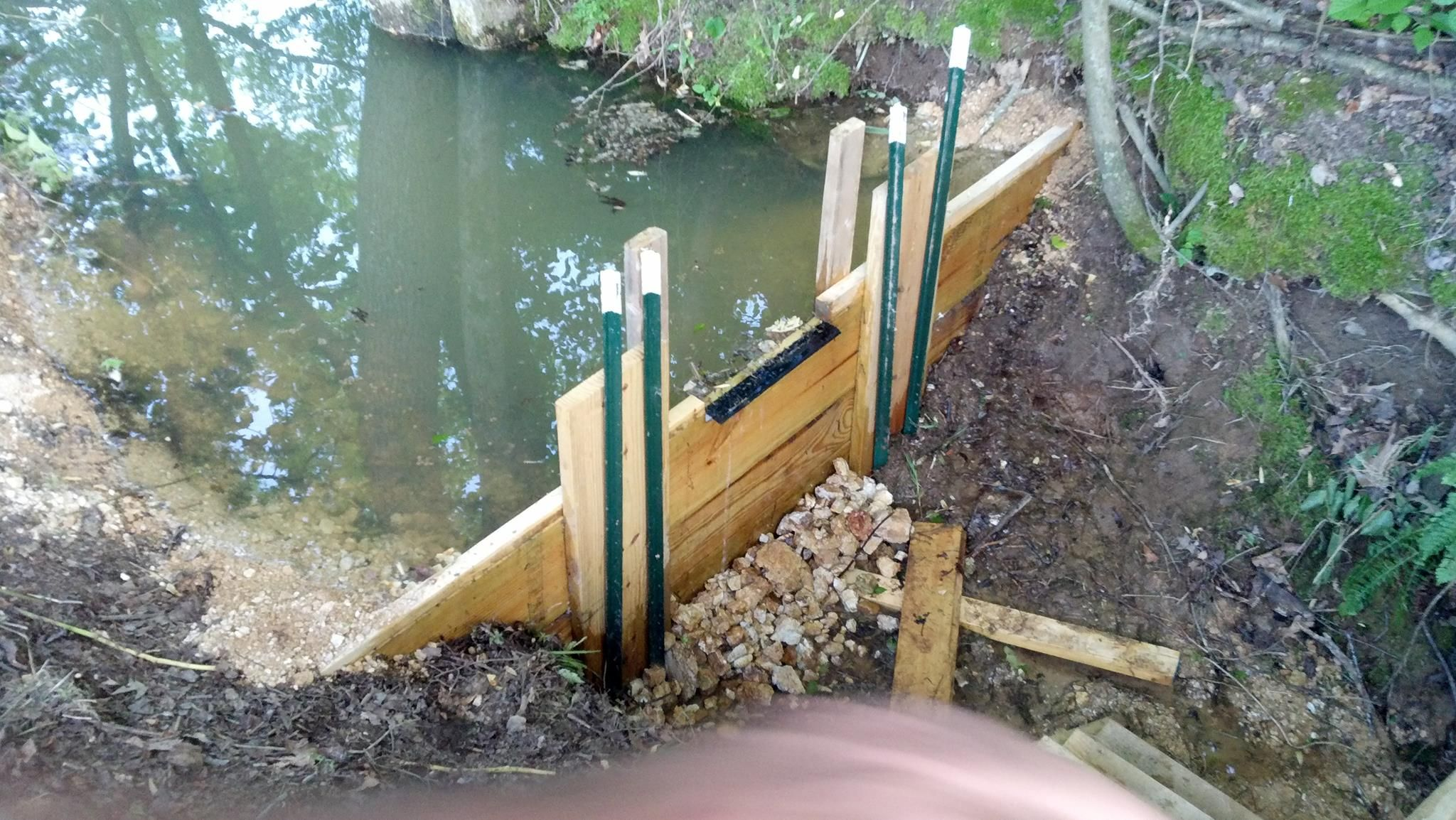 Built my first pond of many building a dam pond boss for Small pond construction