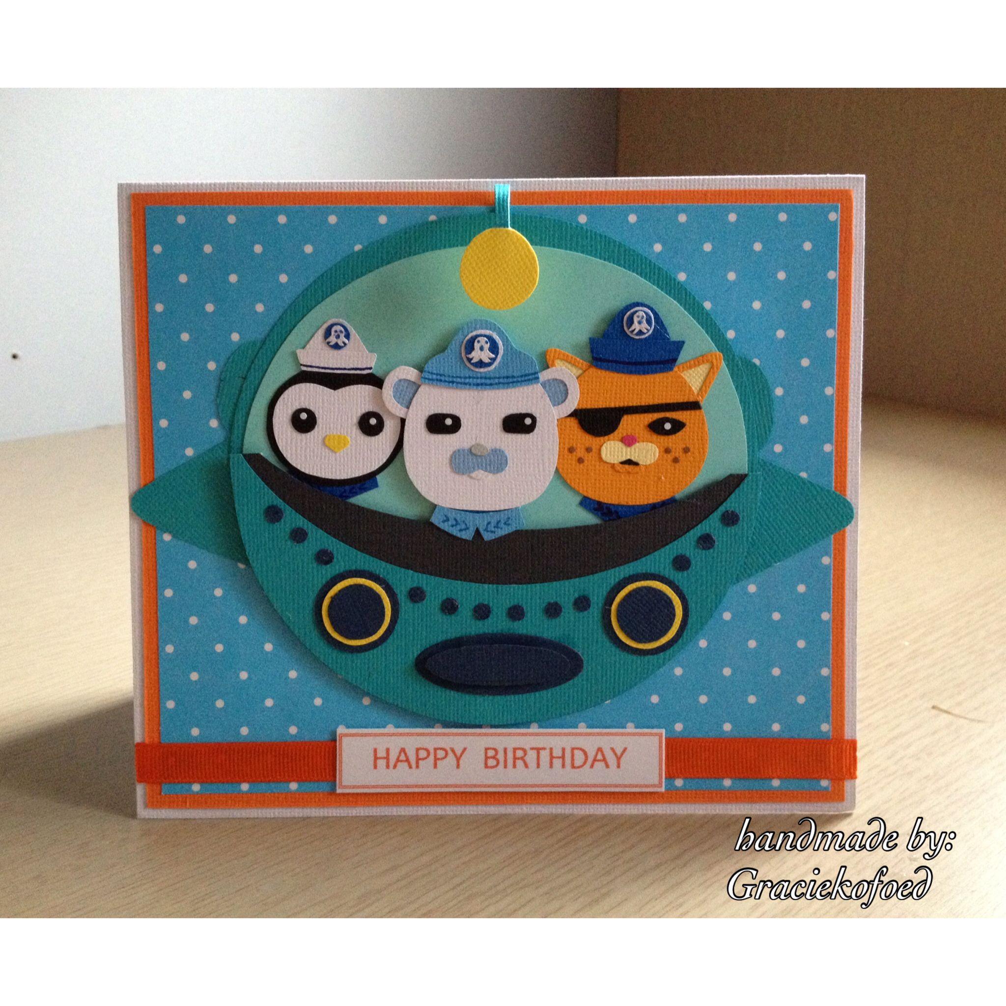 Octonauts theme birthday card karten für kinder pinterest