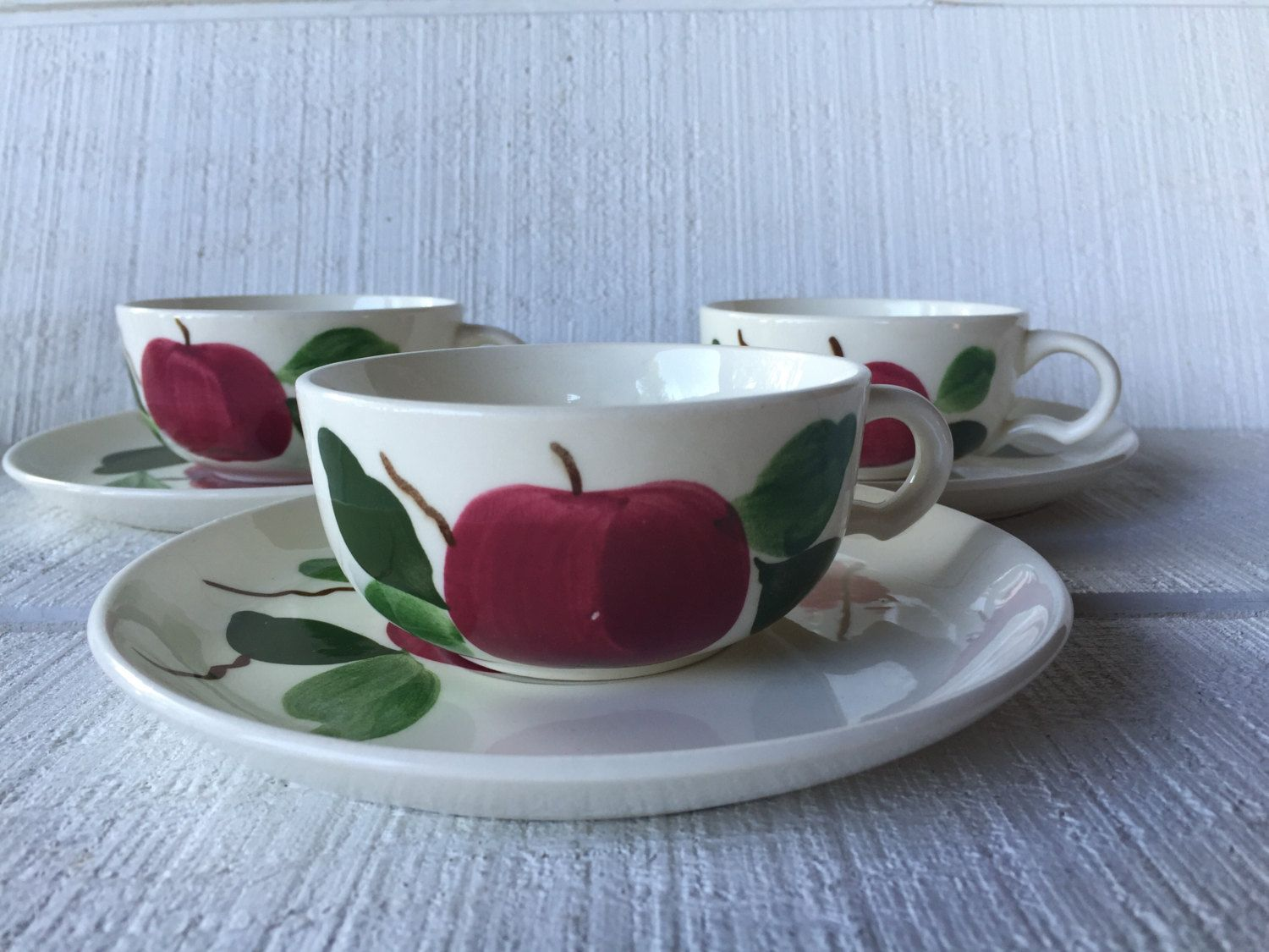 Heritage Ware by Stetson Vintage ~Hand-painted Underglaze Bone China Tea Cup And Saucer Set