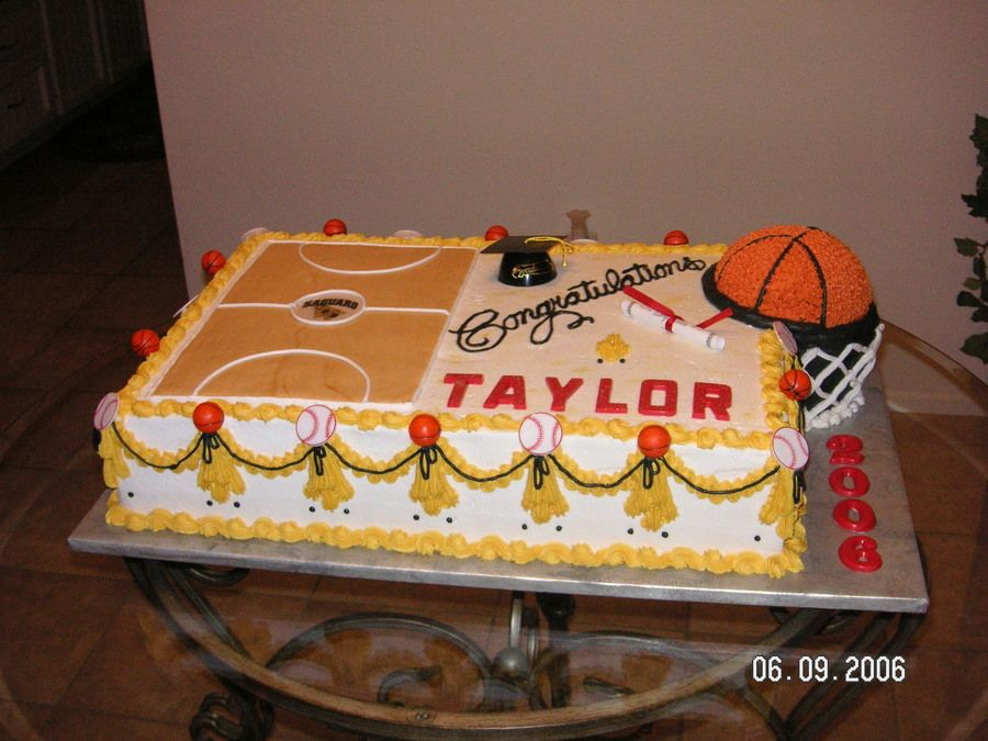 Basketball Graduation With Images Graduation Cakes High