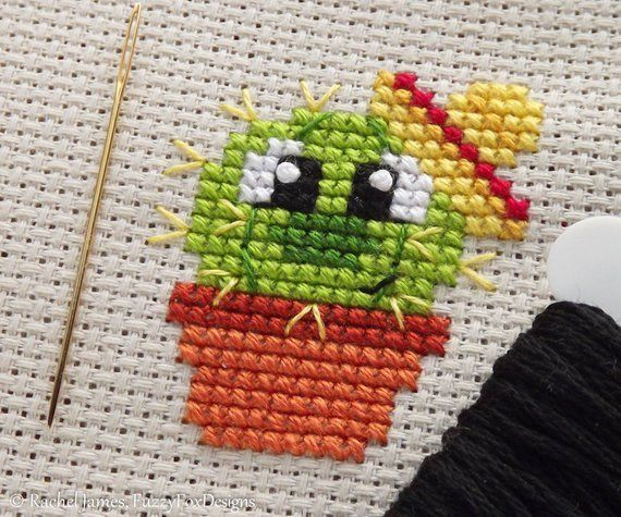 Baby Cactus Cross Stitch Pattern PDF Prickles the Baby You are in the right place about Cactus wallpers Here we offer you the most beautiful pictures about the Cactus pho...
