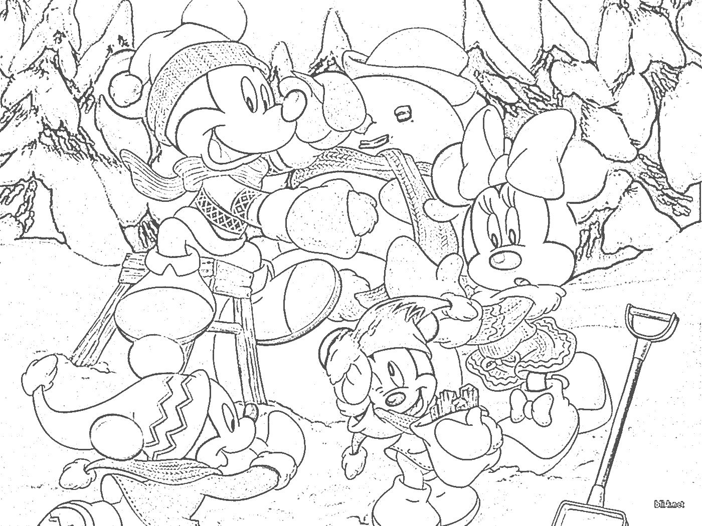 Coloring pages for christmas - Disney Christmas Disney Christmas Tree Coloring Pages