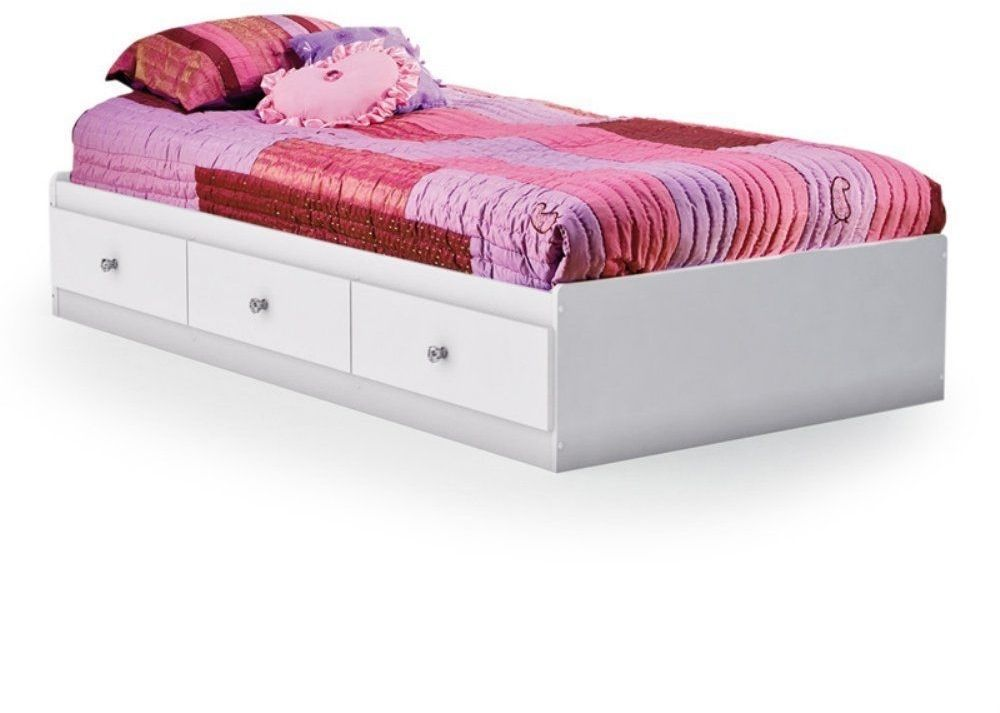 Twin Size Platform Bed Furniture Bedroom Home Beds Kids Wood Furniture White New Southshore Twin Storage Bed Twin Bed With Drawers Bed Storage