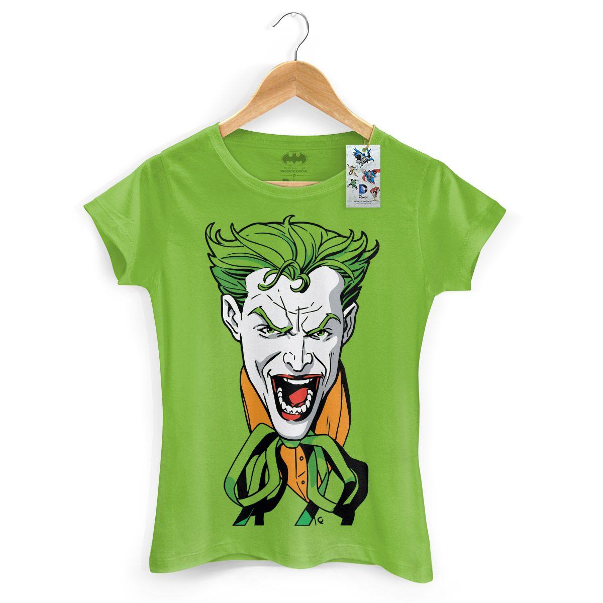 Loja Oficial DC Comics Camiseta Feminina The Joker #LojaDCComics #TheJoker #bandUPSTore