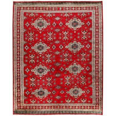 Isabelline <p>This Russian Caucasian design rug is hand-knotted with Worsted Wool on Cotton and has 9 x 14 (126) knots per square inch. The primary color in this handmade rug is Firebrick. This rug is New and in Perfect condition. The measurements for this rug are: 8 feet 3 inches wide by 10 feet 4 inches long. This rug is currently Available and will ship within 2 business days. Free International Shipping & 14-Day Returns. This rug's SKU # is 08A054638C144EB19A1A1351659C1DA0.</p><strong>Featur