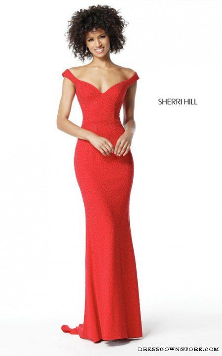 Sherri Hill 51434 Long Red Beaded Prom Dress | Pseudostylist ❤️s ...