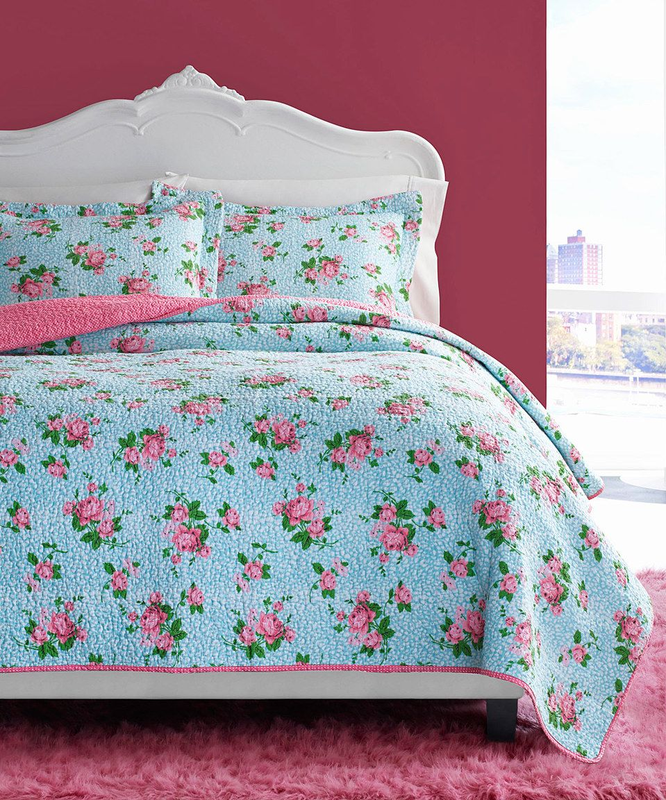 betsey johnson leopard floral quilt set | leopards, floral and