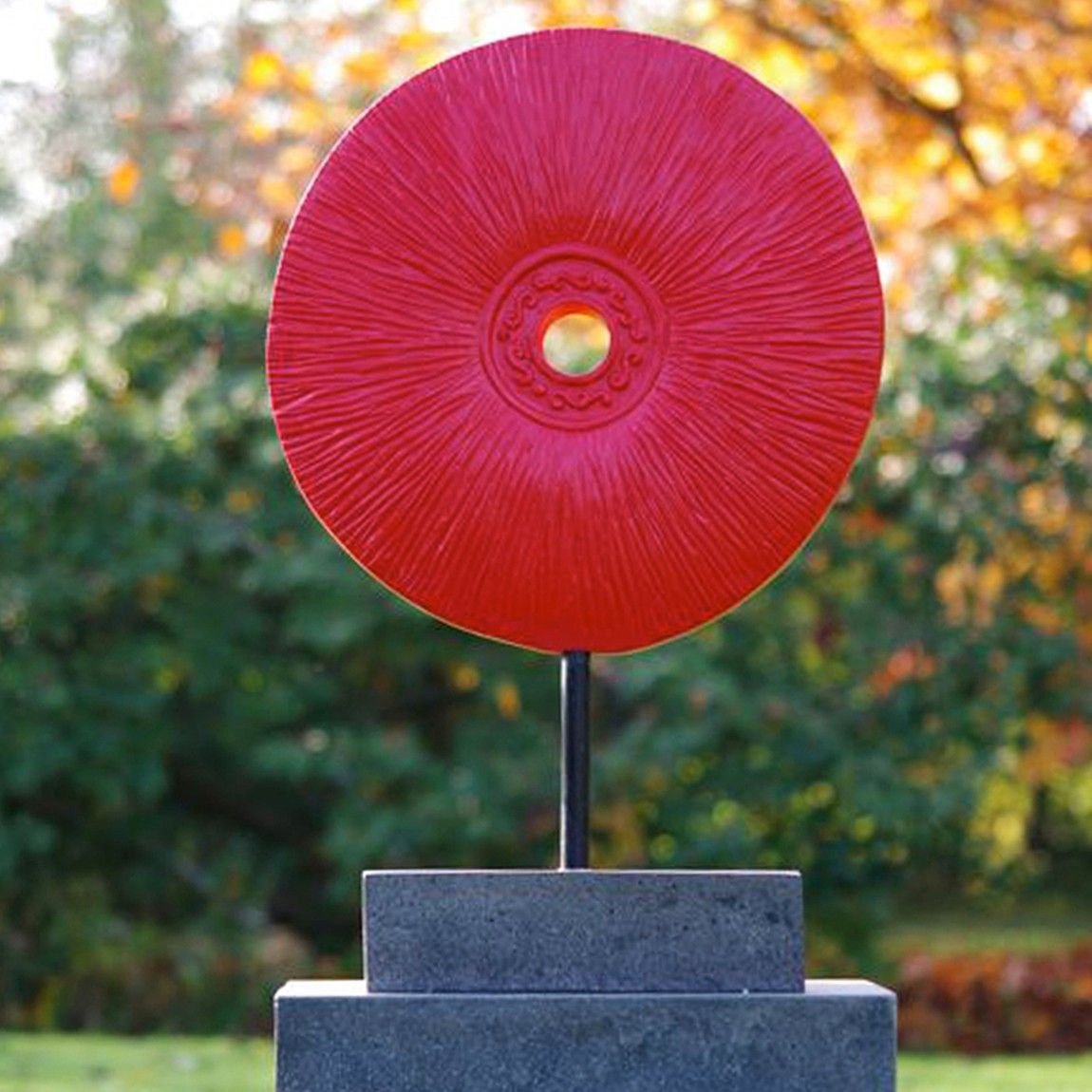 Cosmic Contemporary Garden Sculpture On Pedestal. Buy Now At Http://www.