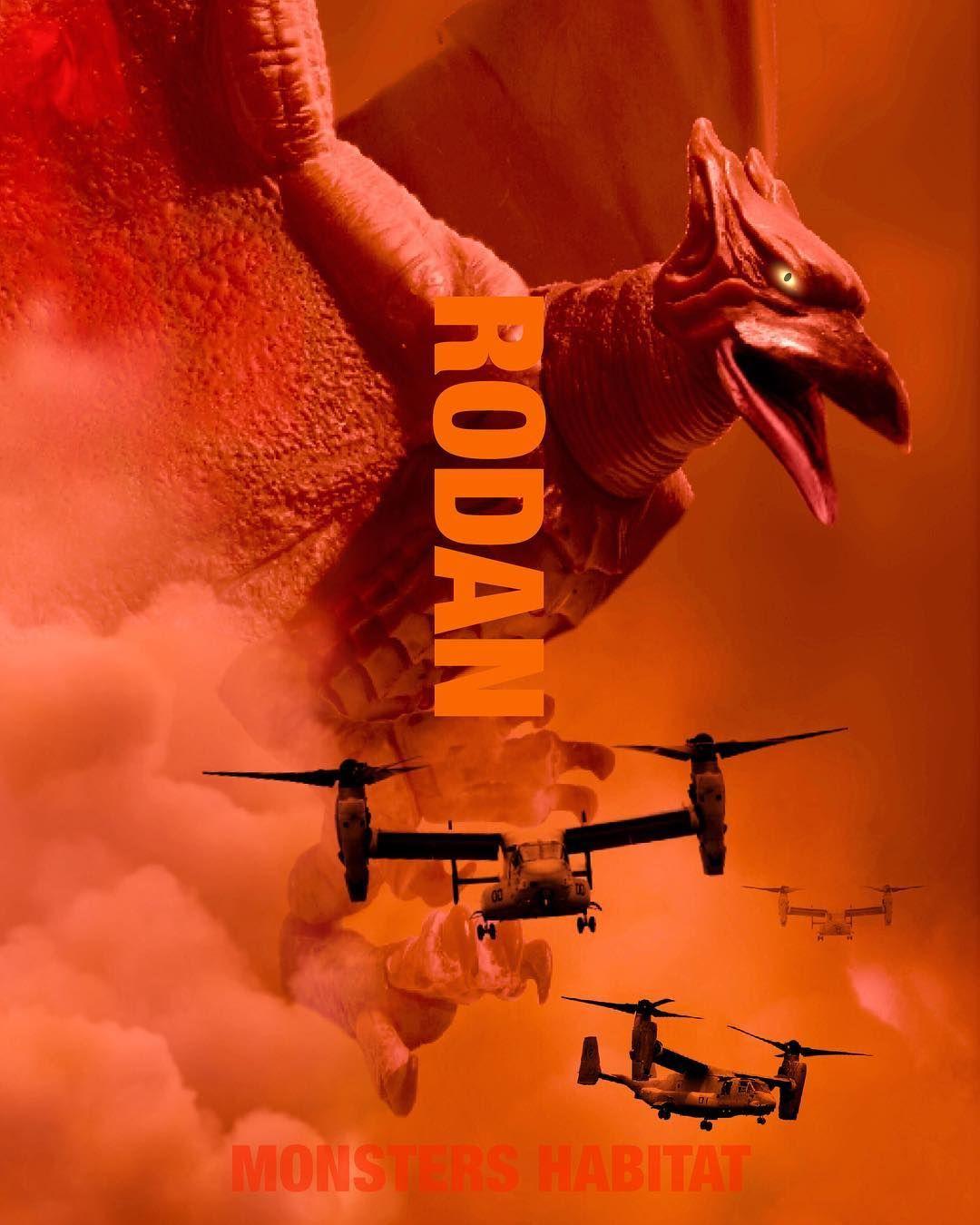 "8543f087193 Godzilla King of the Monsters poster RODAN #godzilla #gojira #godzillamovie  #godzilla2014…"""