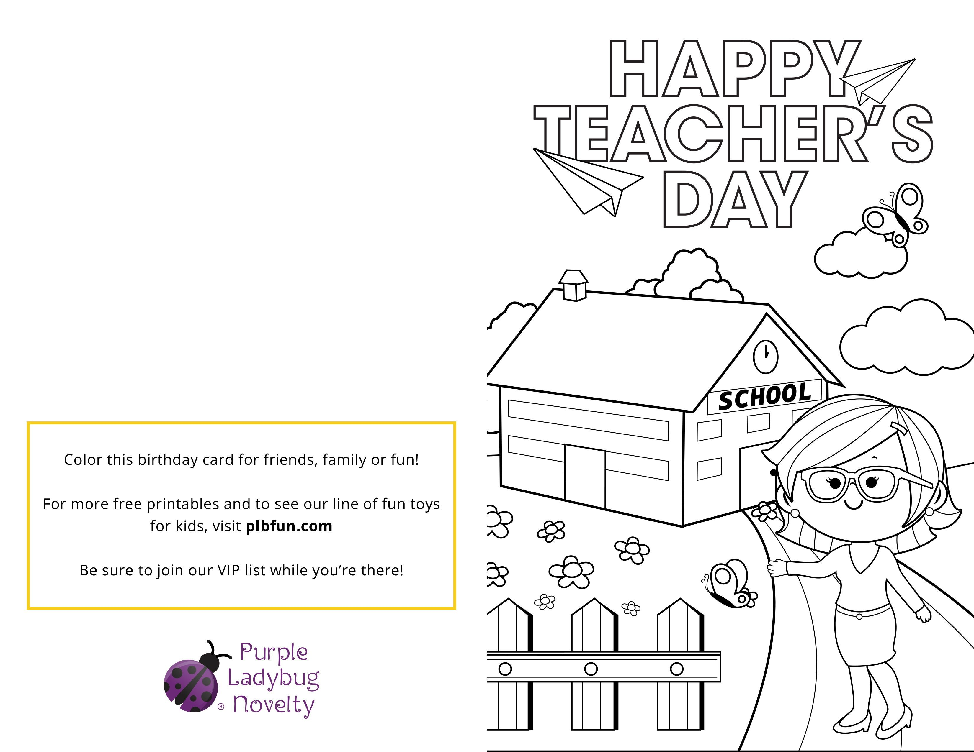 """FREE Printable: Teacher's Card """"Getting Ready for National ..."""