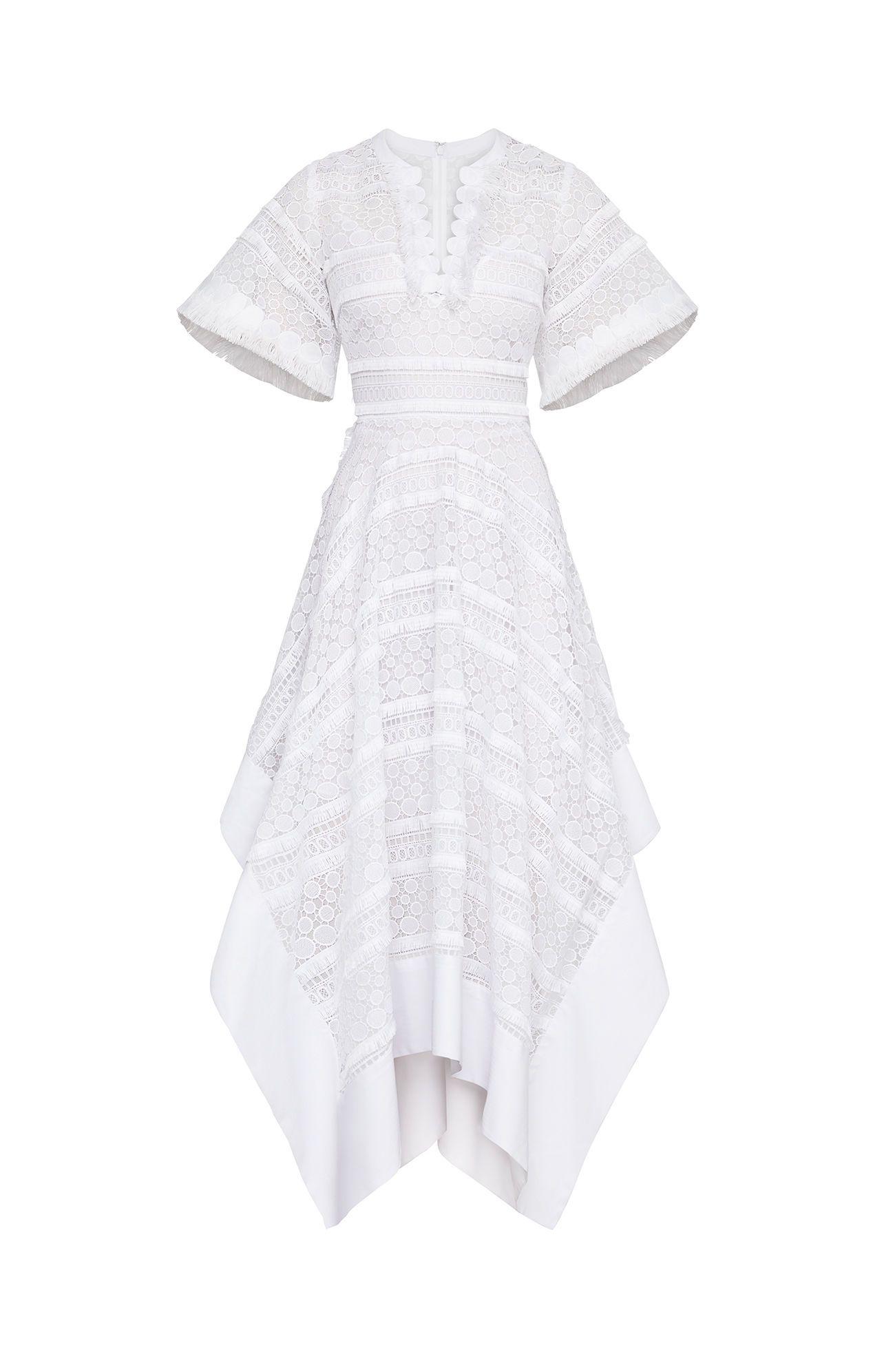 19++ Bcbg striped dot lace asymmetric dress trends