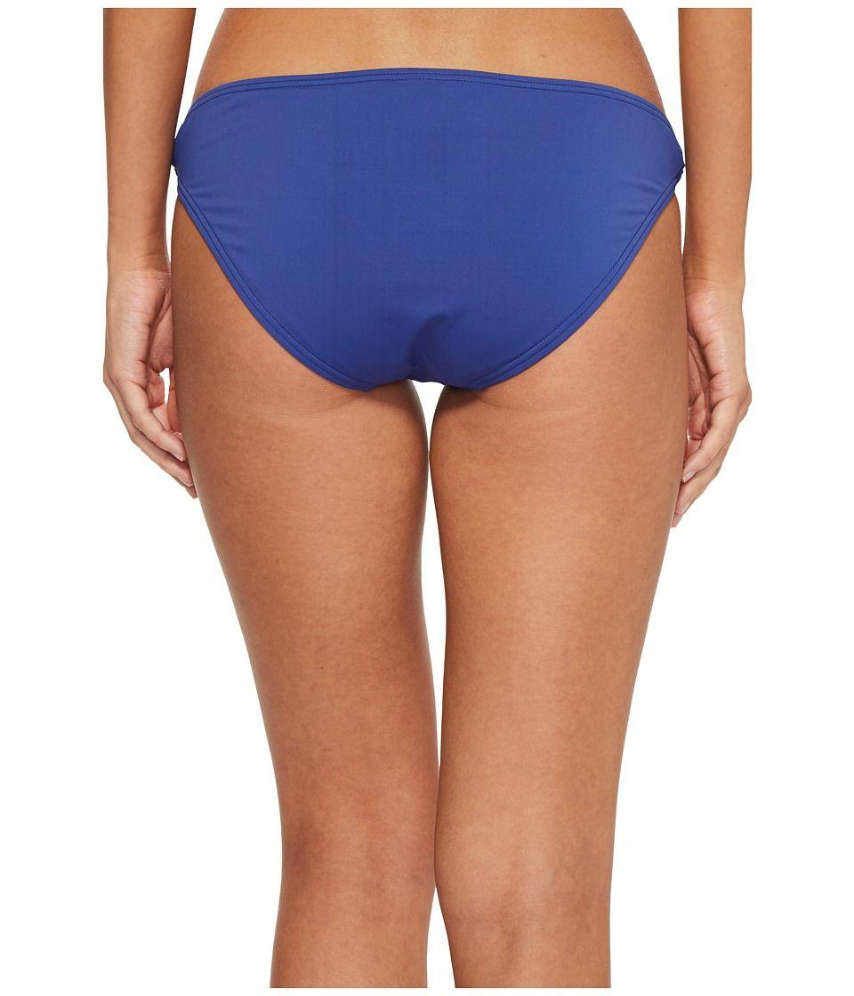 b91b6b6d43151 Tommy Bahama Pearl Hipster Bikini Bottom with Rectangle Hardware Women's  Swimwear Dark Sanibel Blue