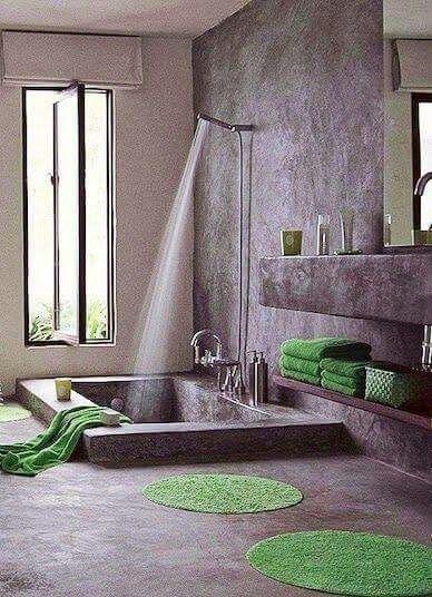 Pin de marianela moreno su rez en bathroom en 2019 for Renovar azulejo bano concreto cera