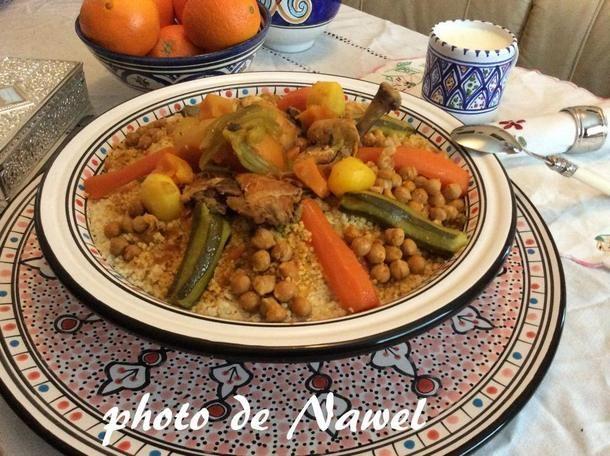 Couscous alg rien au poulet recipe projets essayer pinterest couscous cuisine and food - Google cuisine algerienne ...