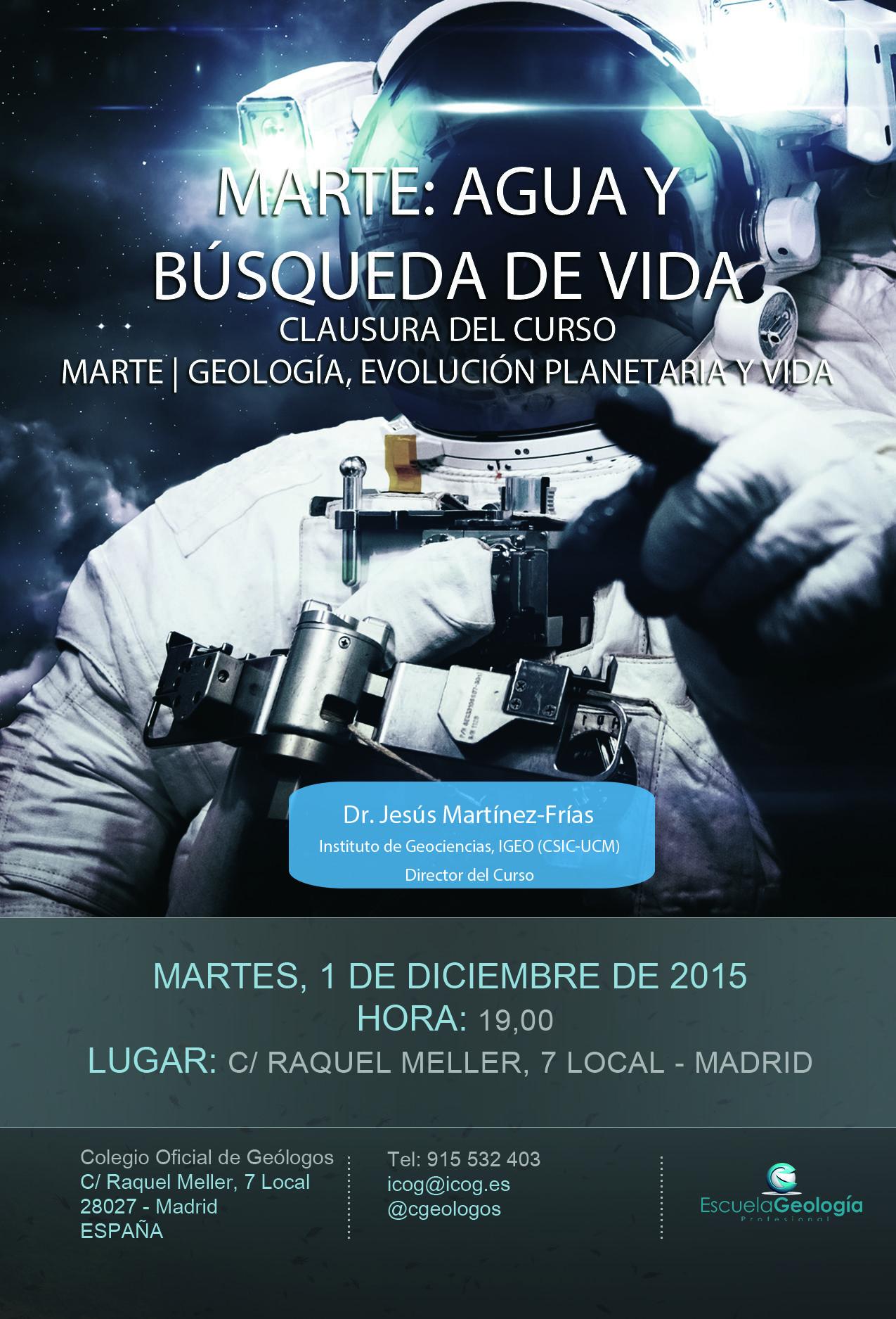 """Clausura curso """"Marte   Geología, evolución planetaria y vida"""" #marte #mars #geología"""