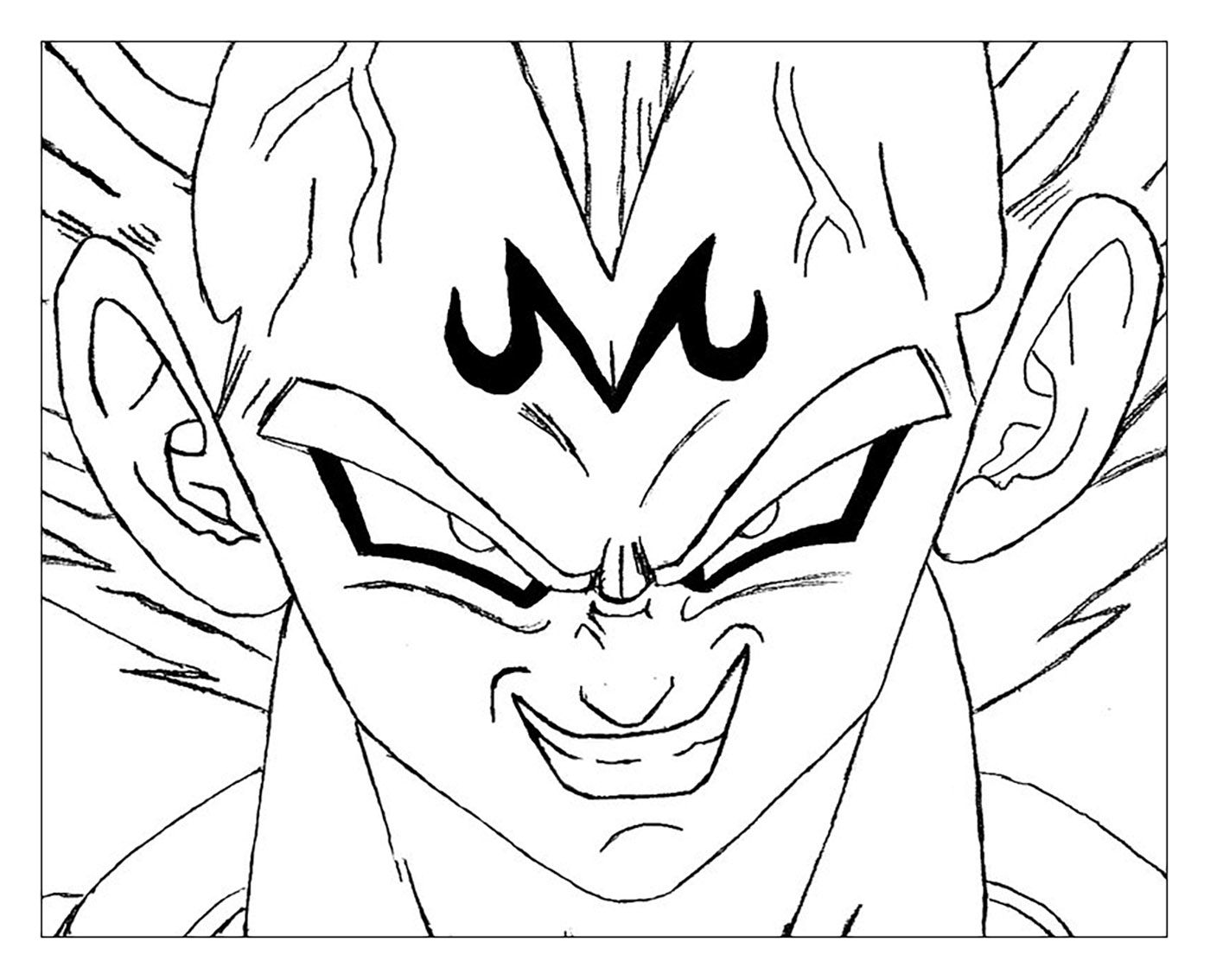 Facile Dragon Ball Majin Vegeta Coloriage Dragon Ball Z Coloriages Pour Enfants Coloriage Dragon Ball Z Coloriage Dragon Ball Coloriage Dragon
