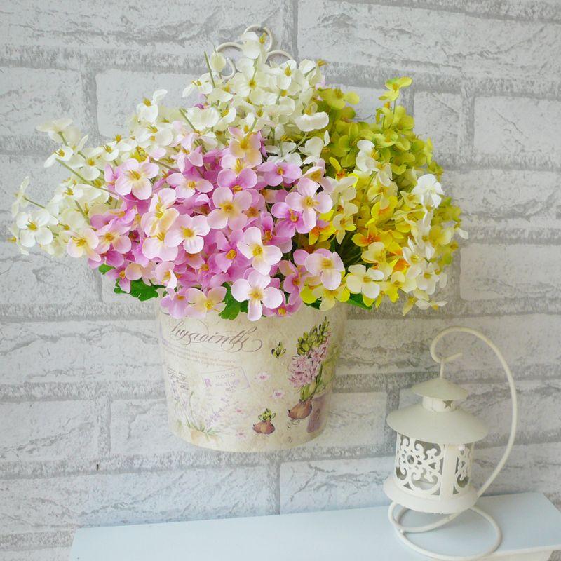 rústico de flores artificiales orquídea pequeñas flores pequeñas