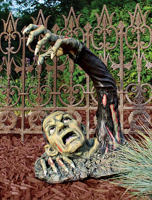 Outbreak of The Undead Lawn Statue For A Scary Halloween Zombies - halloween statues
