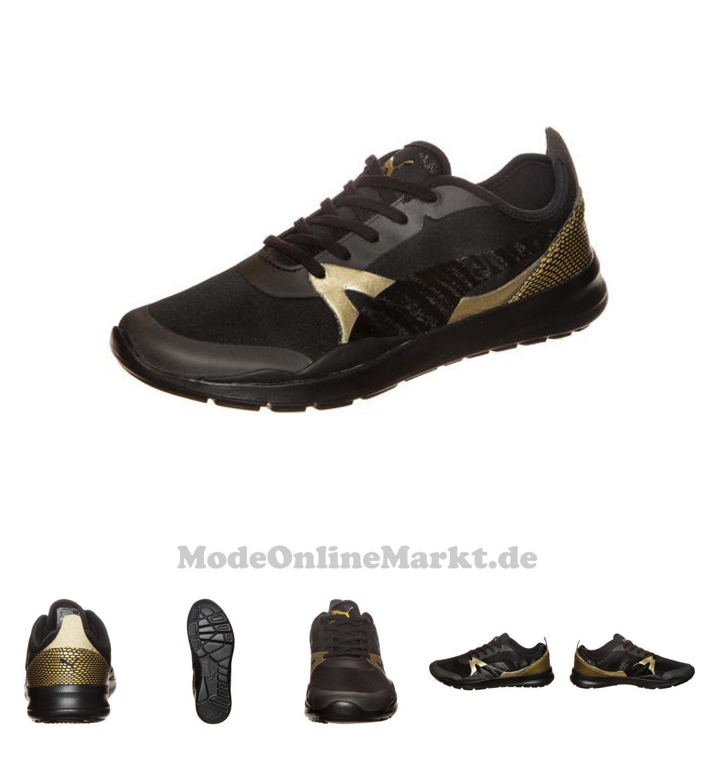 puma damen sneakers schwarz gold
