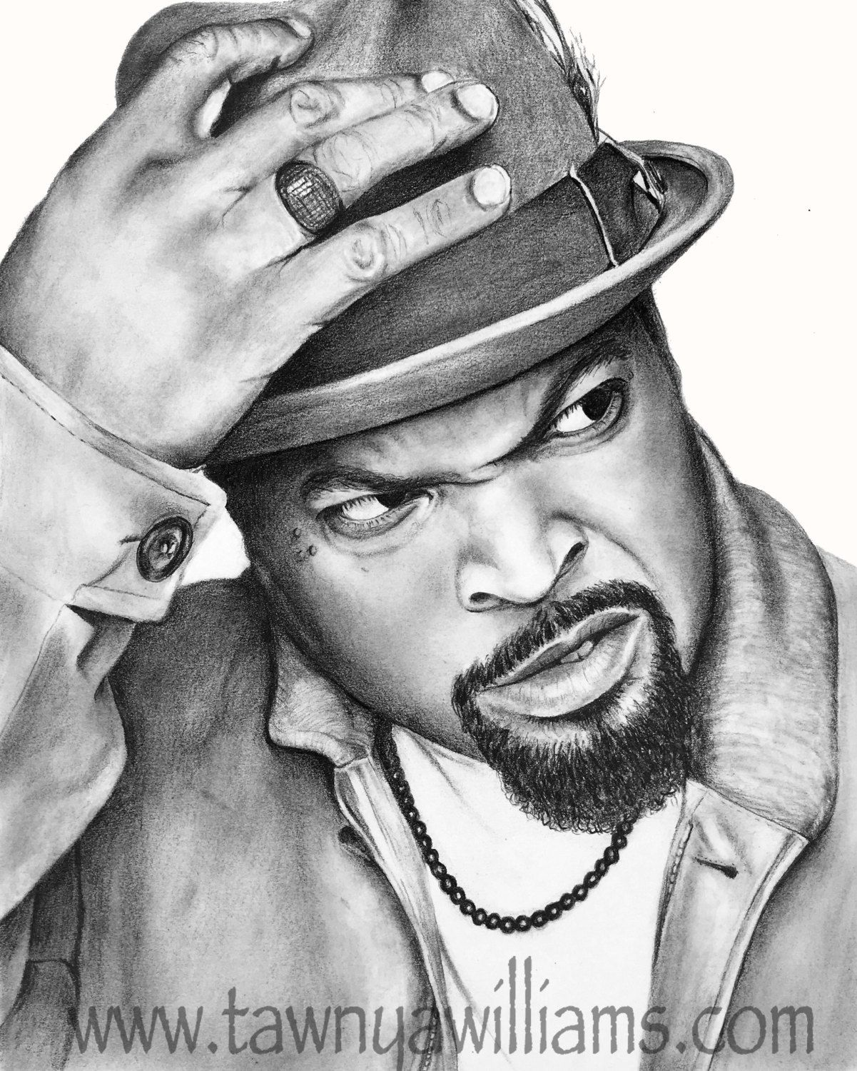 Ice Cube Drawing. Ice Cube Print. Ice Cube Art. Gangsta ...