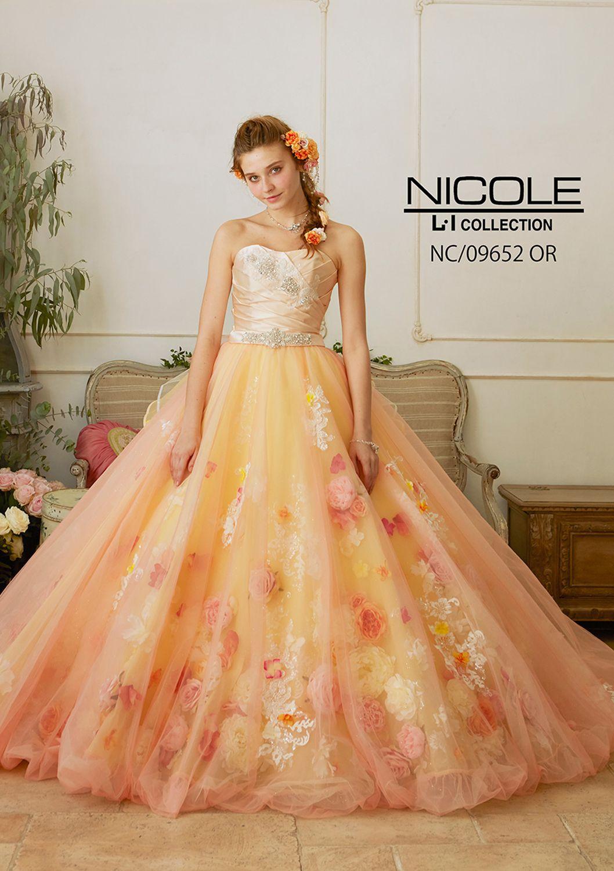 6bc8512610905 NC-09652 - NICOLE カラードレス - クリスタルやラインストーンで立体的 ...