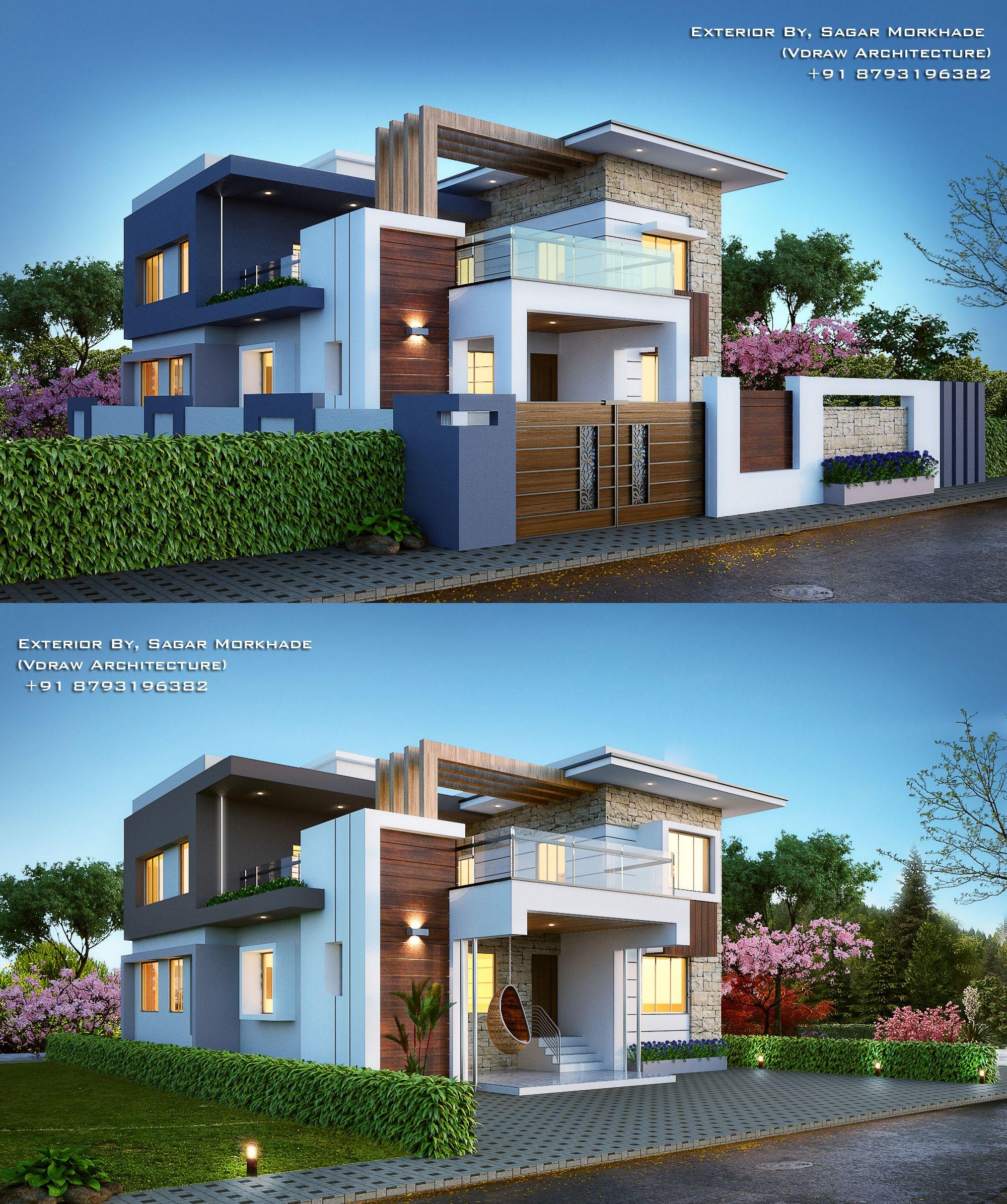 Modern House Bungalow Exterior By Sagar Morkhade Vdraw: Lego Ideas Product Ideas Everholm A Modern