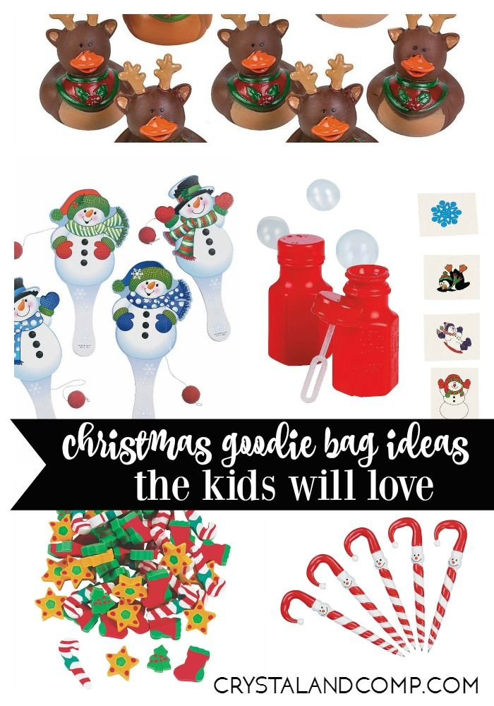 25 Things To Put In Christmas Goodie Bags For Kids Christmas Goodie Bags Goodie Bags For Kids Kids Christmas Party