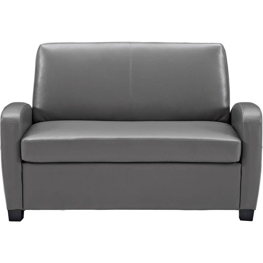 Incredible Home Sofa Twin Size Sleeper Seat Stain Resistant Faux Creativecarmelina Interior Chair Design Creativecarmelinacom