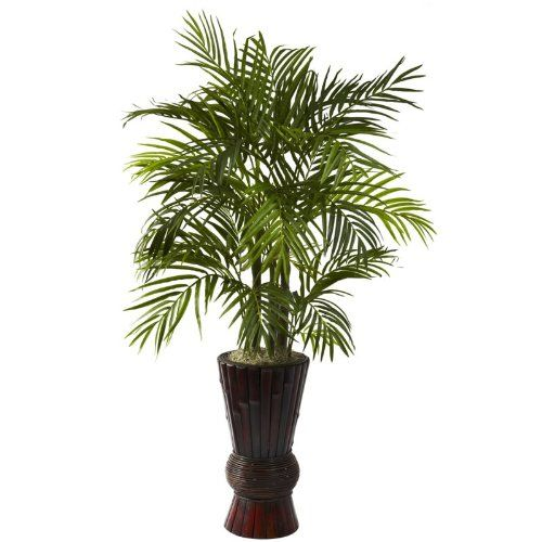 Wholesale 4Ft Areca w/Bamboo Planter, [Decor, Silk Flowers] *** Details can be found by clicking on the image.