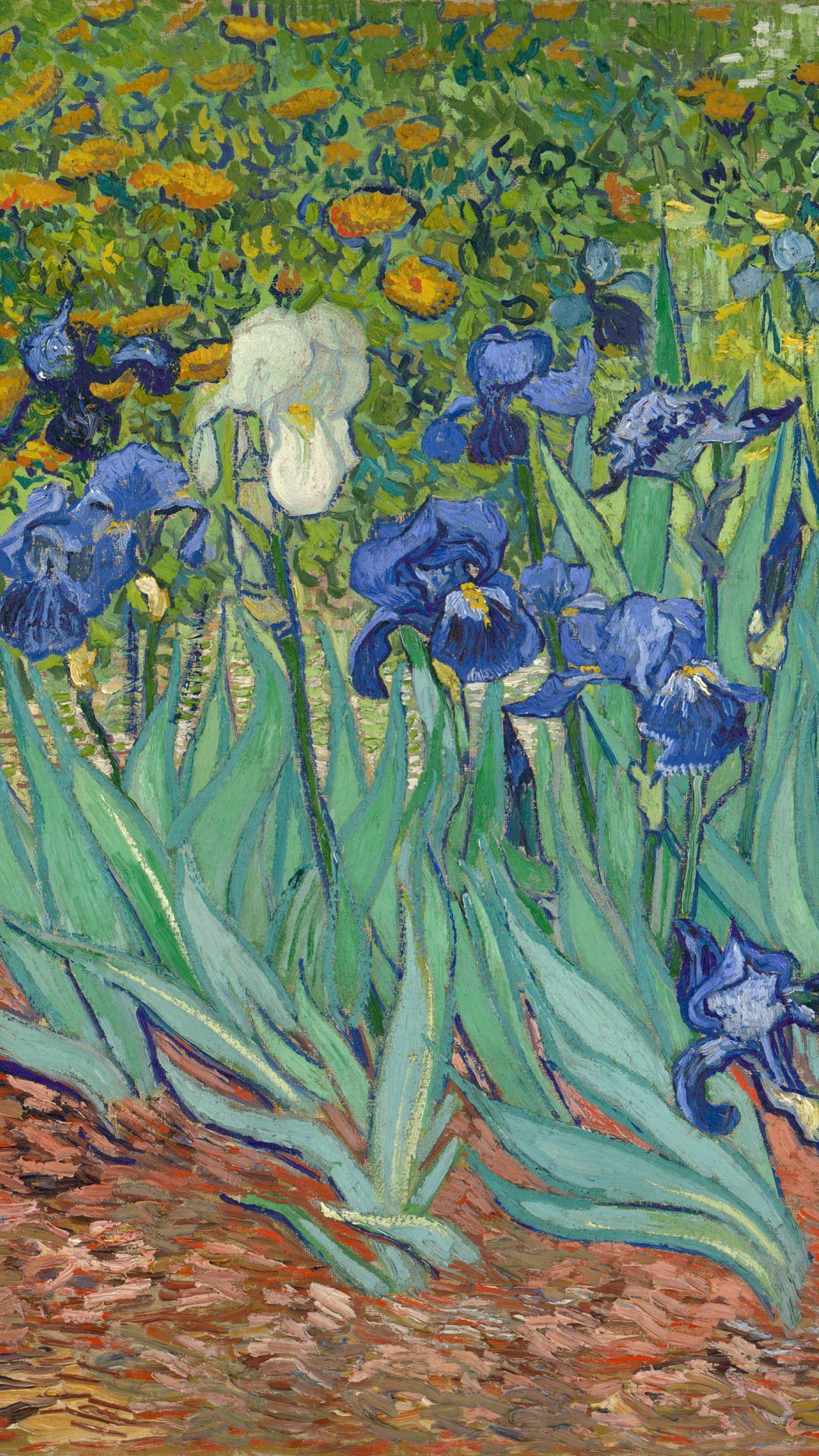 Vintage Hippie Wallpaper Download Van Gogh Wallpaper Van Gogh Irises Painting Wallpaper