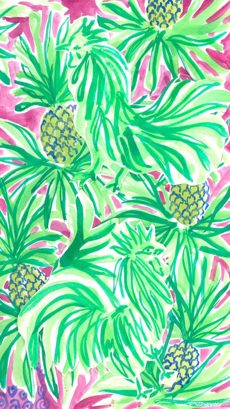 Lilly Pulitzer ☆ Download more tropical iPhone Wallpapers at ...
