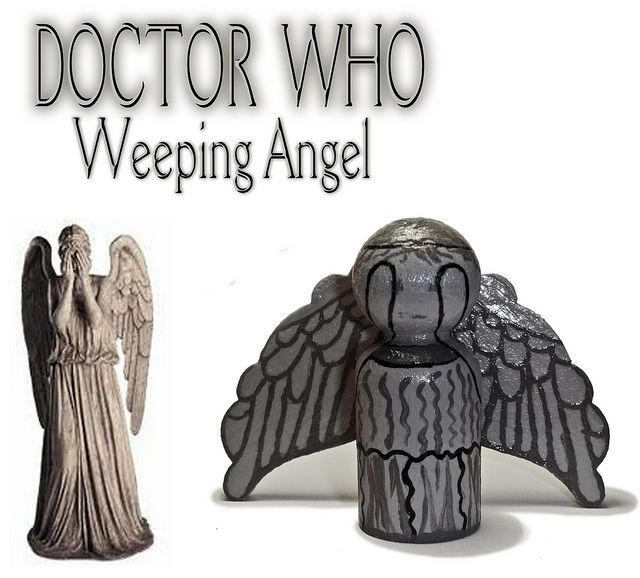 Weeping Angel Peg Person by Smurphy Pix, via Flickr