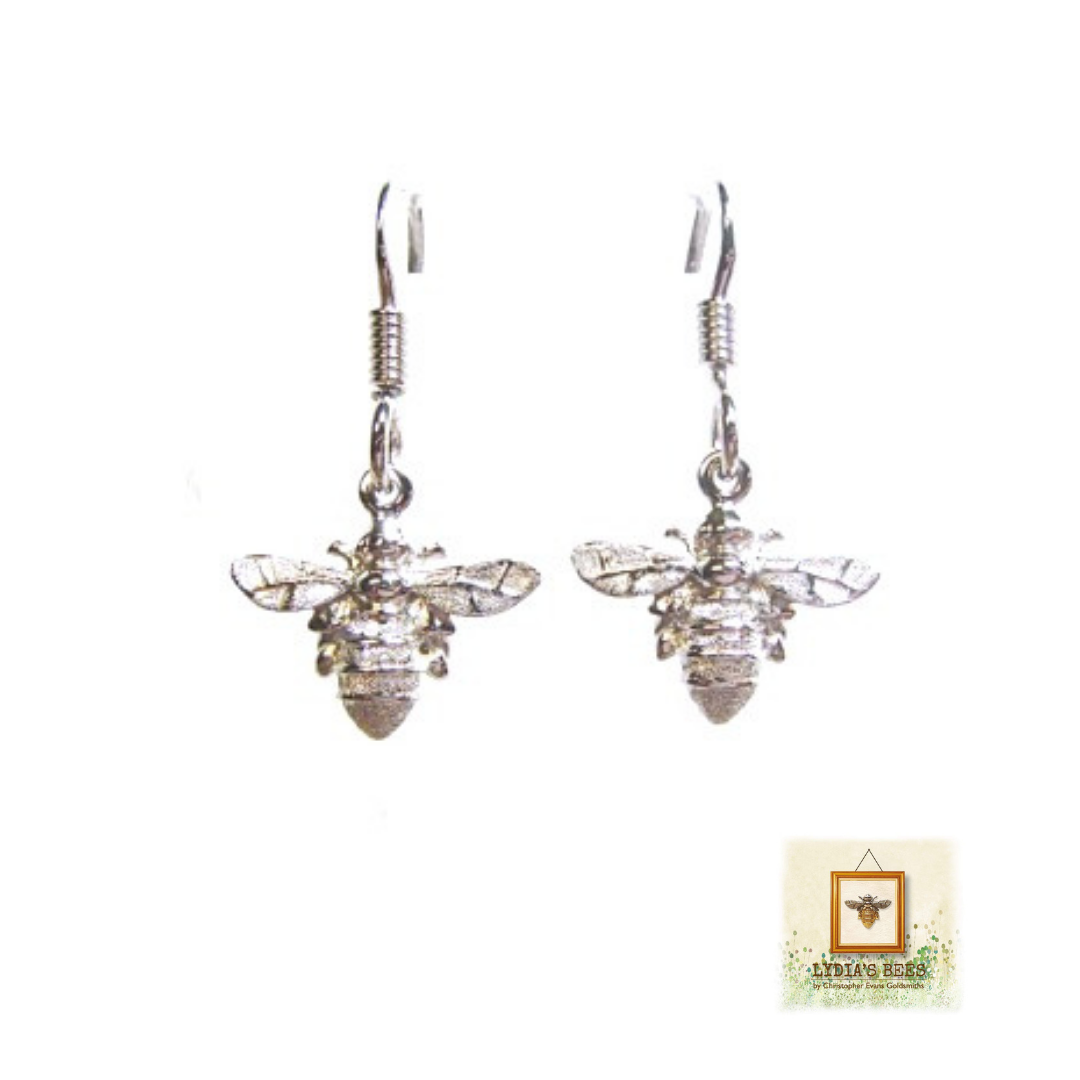Made From Solid Sterling Silver To Our Own Unique Design These Pretty Drop Earrings Positively Dance As You Move Just 110 At Lydia S Bees Uk