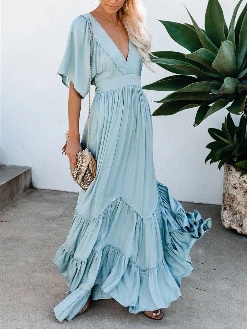 39++ Half sleeved maxi dress information