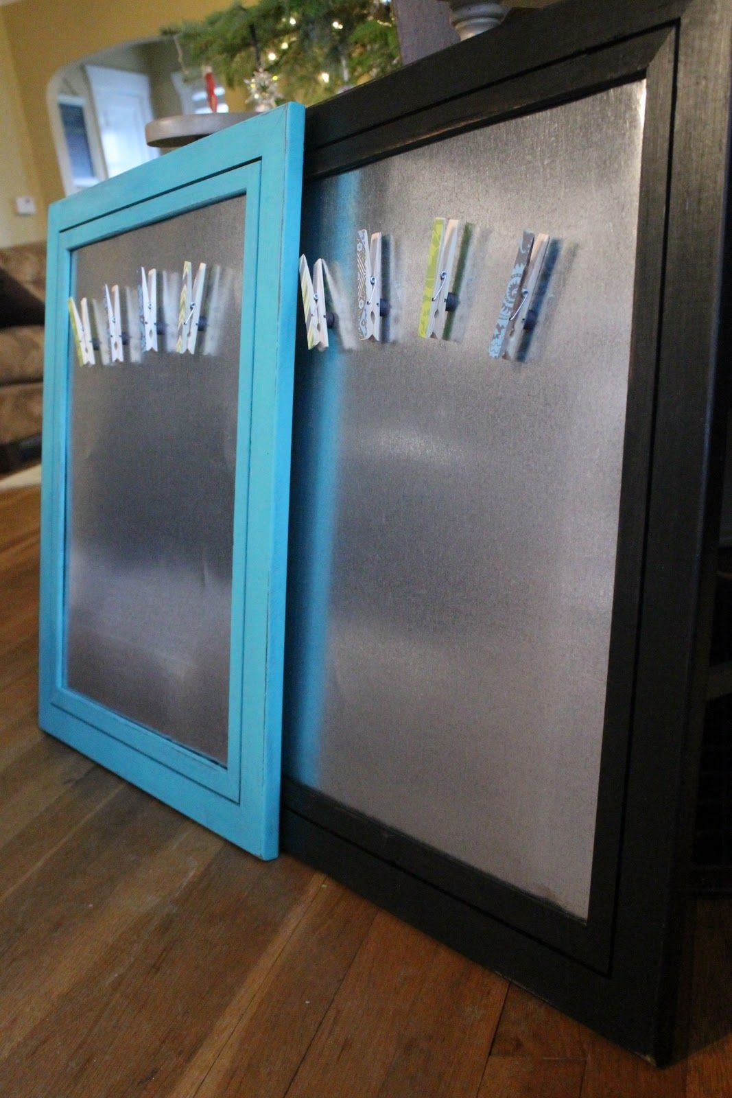 DIY Magnet Boards and cute clothespins are just mod podged with some ...