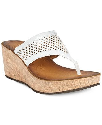6e3f7fa14ad Clarks Collection Women s Avaleen Ocean Platform Wedge Thong Sandals -  Sandals - Shoes - Macy s